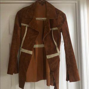 Suede tan jacket blazer